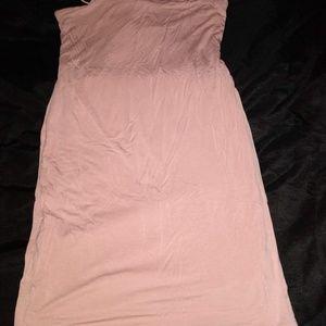 Light pink spaghetti strap stretch dress size Larg